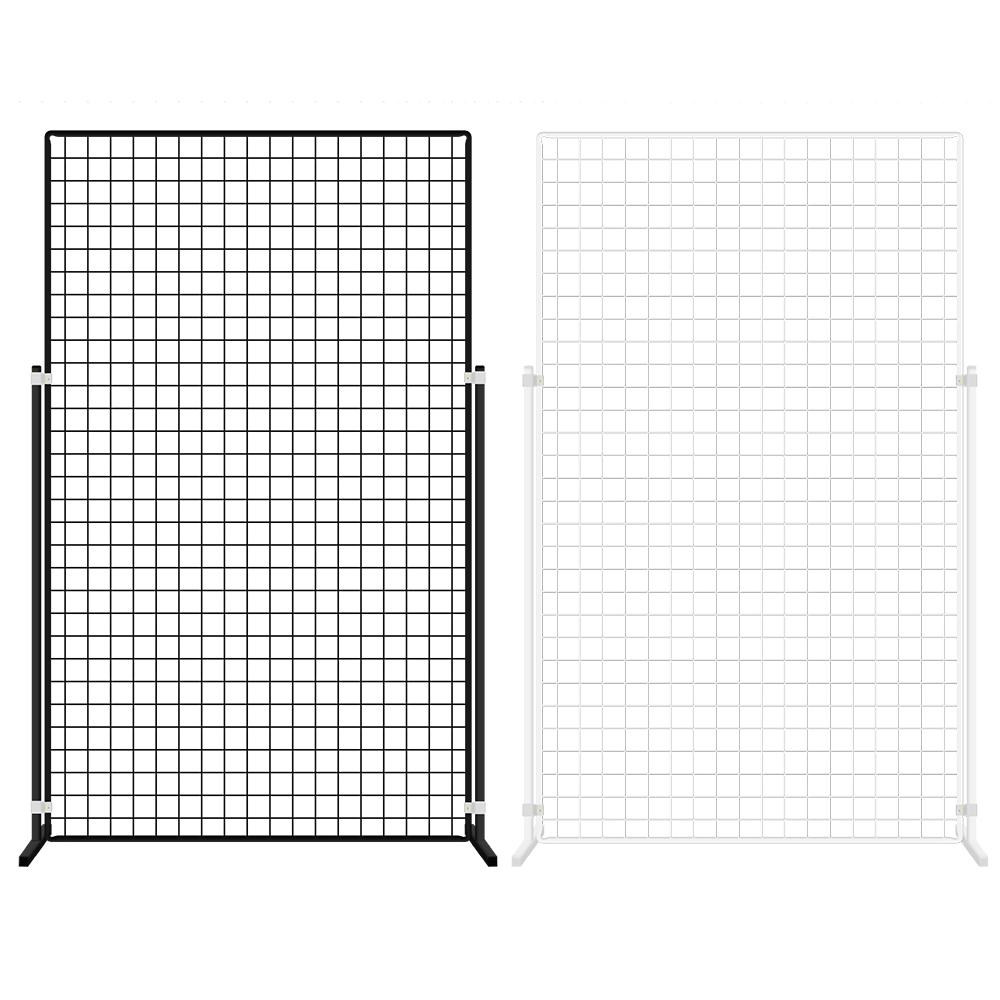 메쉬망 진열대 (망-다리세트) - 900x1500mm, 블랙