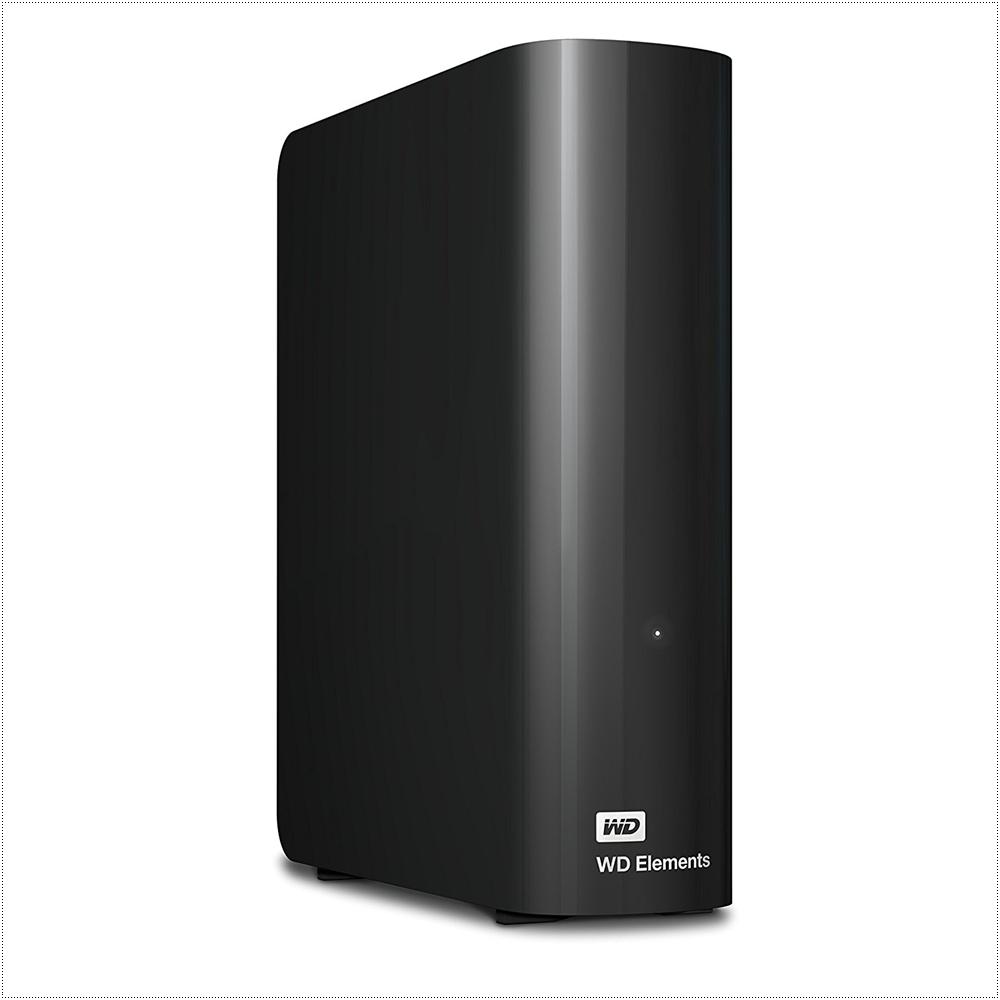웨스턴디지털 엘리먼트 WD 8TB Elements Desktop Hard Drive USB 3.0 WDBWLG0080HBK-NESN, 검정색