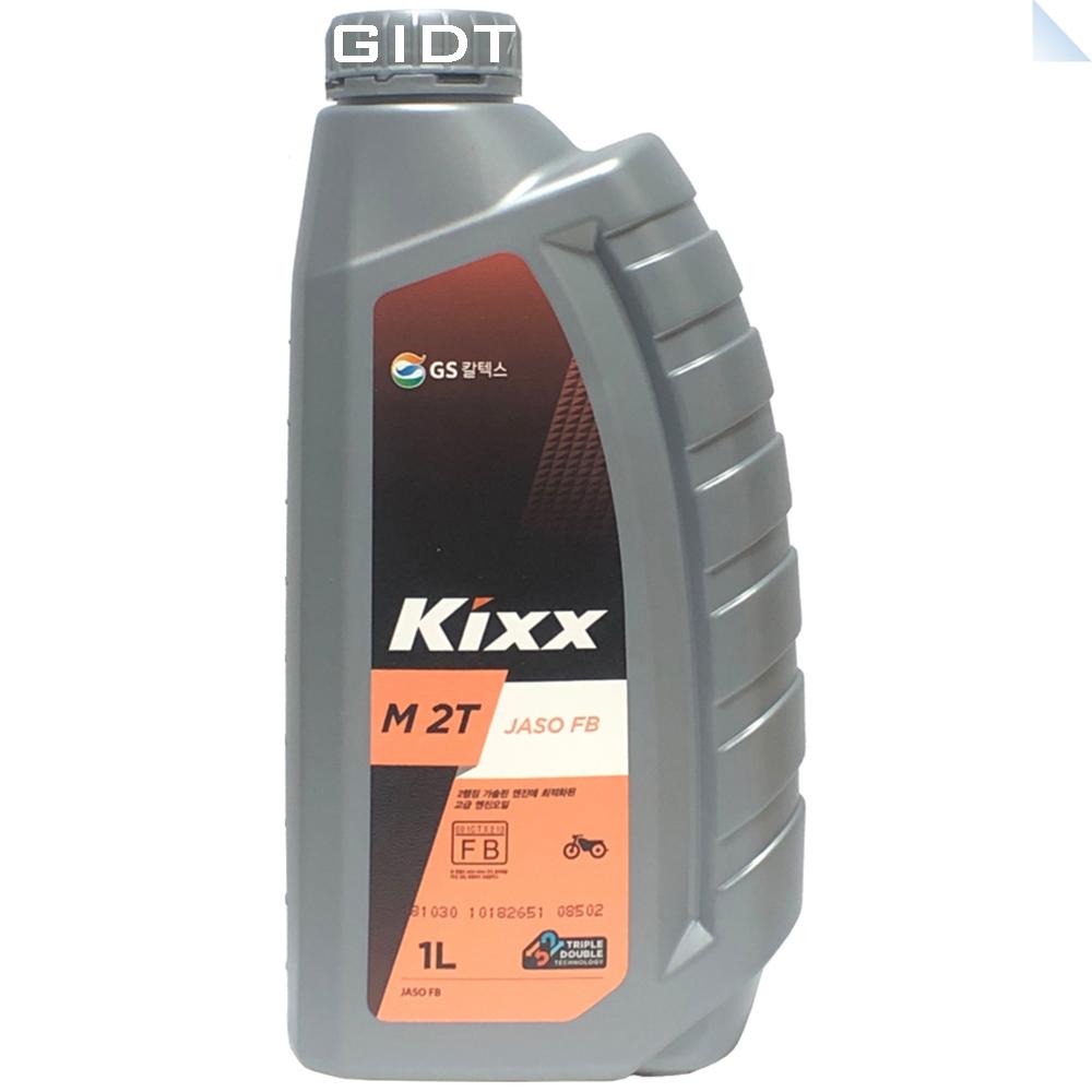 GS칼텍스 킥스 Kixx M 2T 1L 2행정 오토바이 스쿠터 예초기 엔진오일 가솔린, 1통
