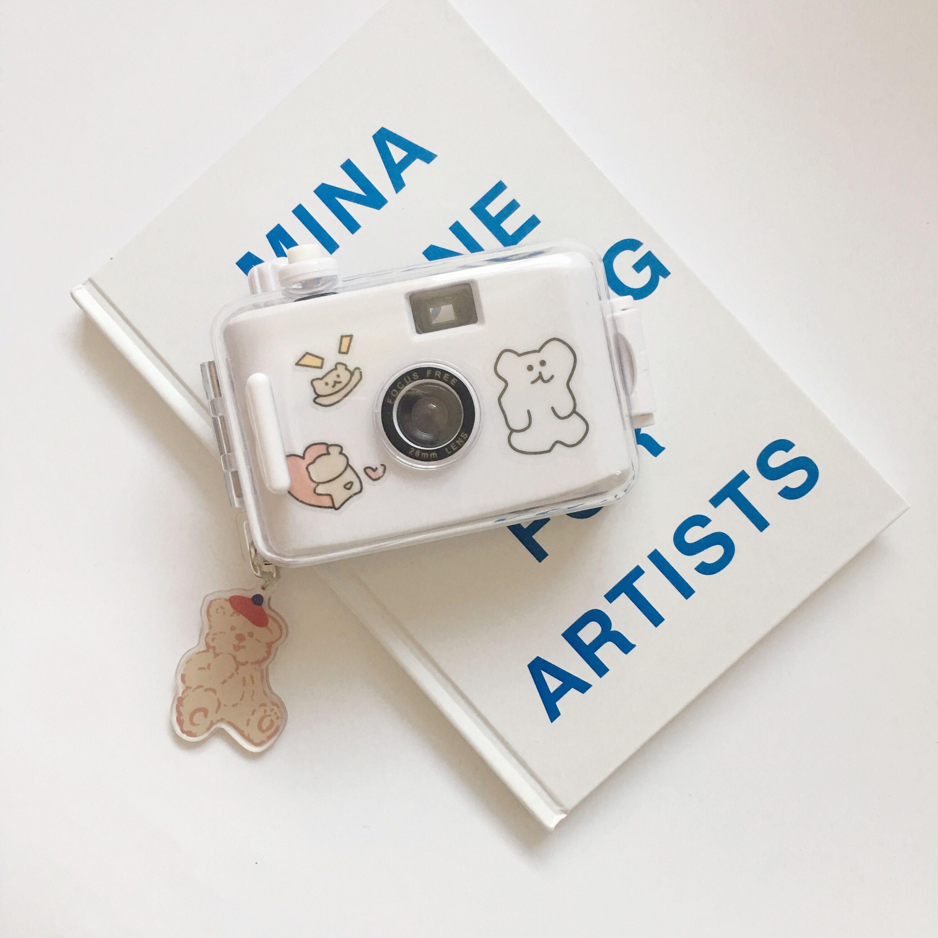 브랜드 일본 레트로 필름 카메라(케이스 필름 스티커 엽서 포함) 즉석카메라, 단일상품