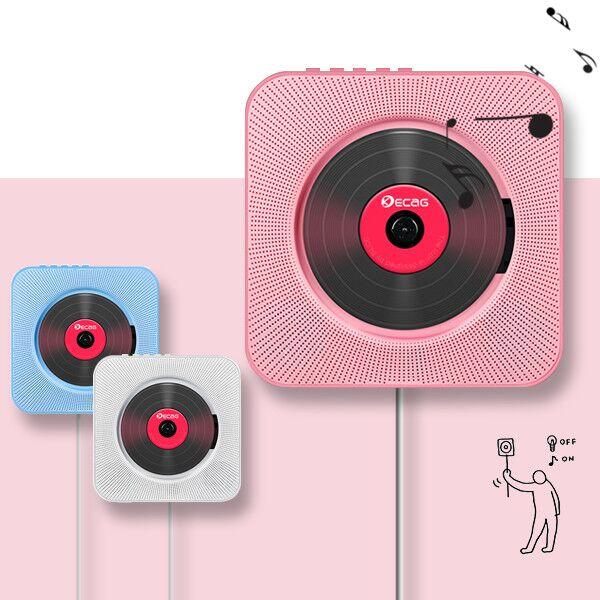 벽걸이 CD DVD플레이어 USB 블루투스 FM라디오 스탠드 겸용, 화이트