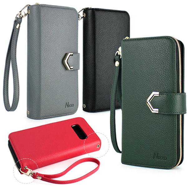 갤럭시A9프로 G887 A9 PRO 전용 심플 5가지 색상 지퍼형 가죽 다이어리 휴대폰 케이스