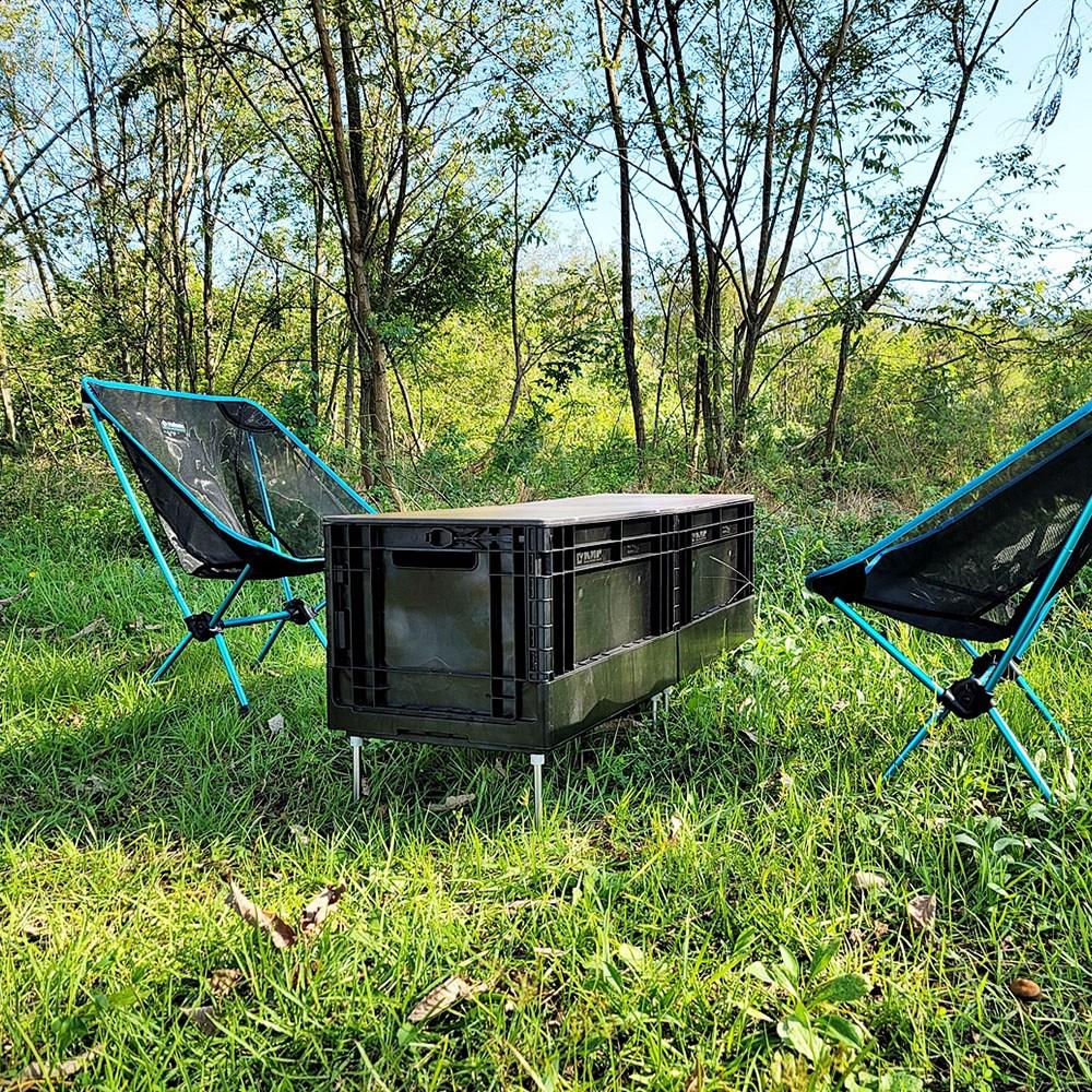 캠퍼필드 오픈도어 폴딩박스 캠핑테이블 겸용 접이식 캠핑수납함