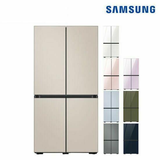 삼성 비스포크 냉장고 4도어 871L (글라스) RF85T9111AP, 색상:사틴 베이지