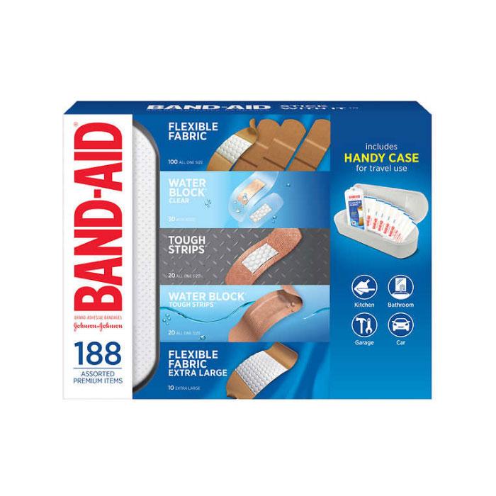 밴드에이드 상처 방수 밴드 반창고 188개입 대용량 / Band-Aid Adhesive Bandages 188 Count with Case (POP 2374820245)