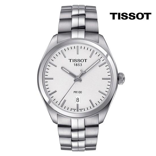 티쏘 PR100 젠트 쿼츠 흰판 T101.410.11.031.00 39mm 메탈시계
