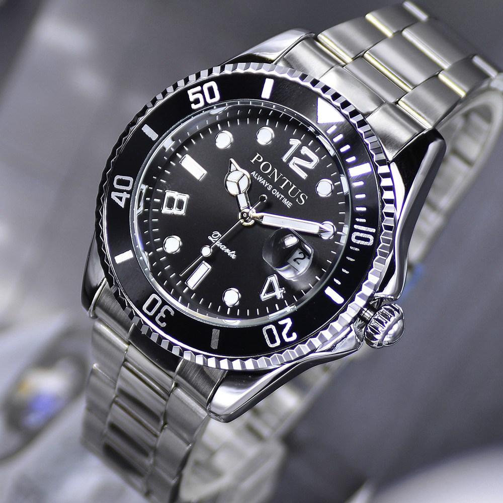 월드타임 PONTUS 남성손목시계 메탈시계
