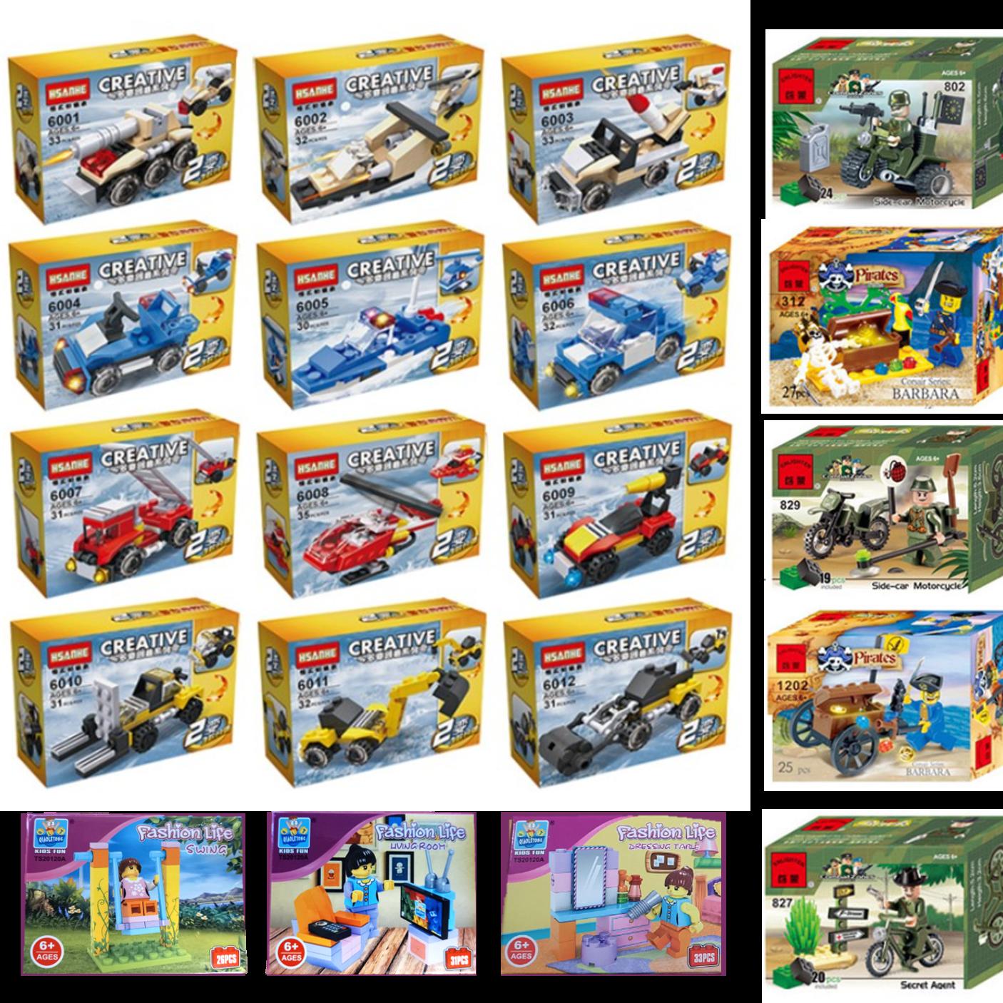 옳은생활 JIESTAR 미니블럭 30세트 직업체험 레고형블럭 집콕놀이 아이선물 레고호환블록