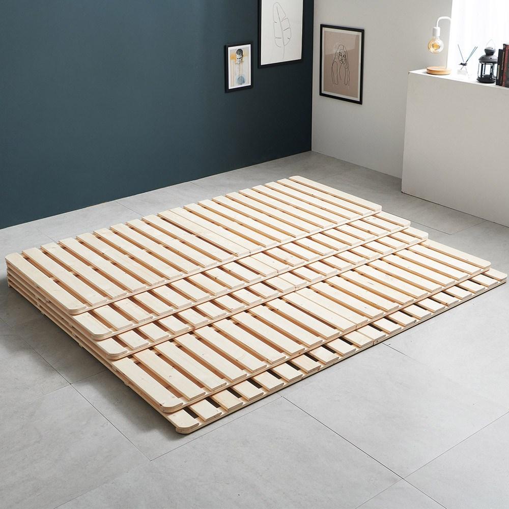 퍼니코 메이크코지 SE0등급 원목 2단 접이식 침대깔판, 내츄럴원목