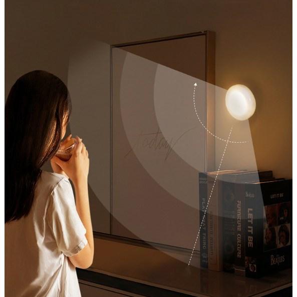 LED 야간 무선 센서등 자동 센서 붙이는 센서등(3개 세트), 주광색(형광등색)