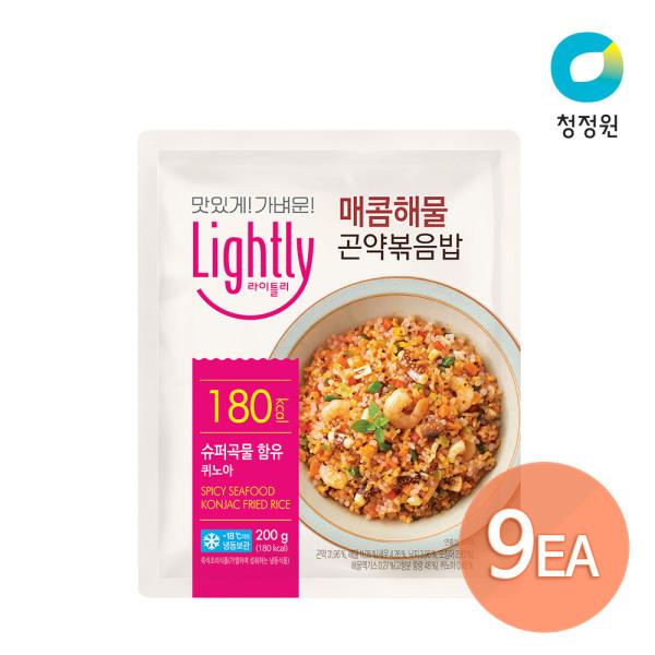 [청정원] 라이틀리 매콤해물 곤약볶음밥 200g x 9개