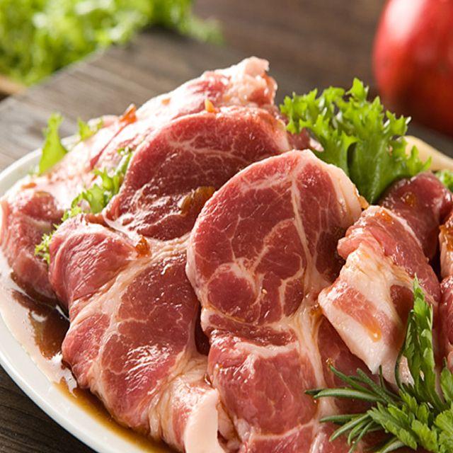 돼지 고기 캠핑용 고기 도매 돈까스 대패 삼겹살 미국산 국내산 수입 제주 돼지 등심 차돌박이 앞다리 살 자취, 1