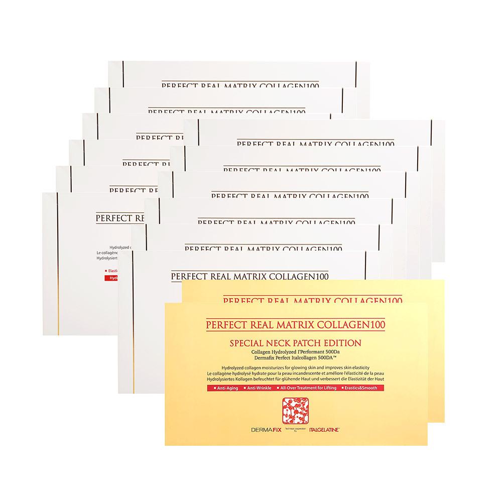 더마픽스 퍼펙트 리얼 메트릭스 콜라겐 마스크팩 12박스(48매)+넥마스크 2박스(8매), 14box, 4매입