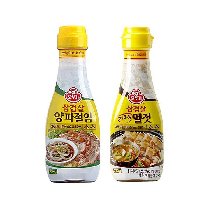 오뚜기 삼겹살멜젓소스270g+삼겹살양파절임소스275g, 1세트