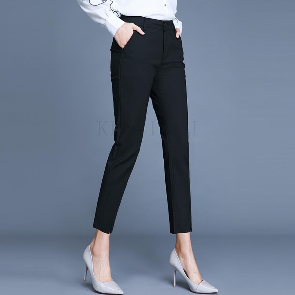 kirahosi 여성 가을 바지 긴바지 슬랙스 여자 캐주얼 팬츠 정장 패션 L 200 +덧신 증정 Rf8sd9k