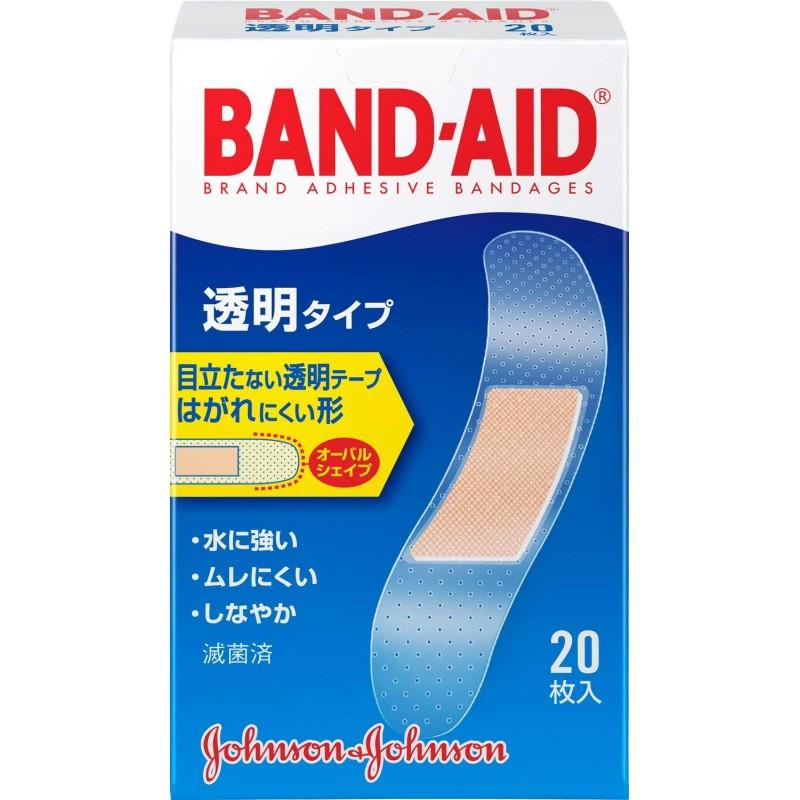 BAND-AID (반창고) 구급 반창고 투명 타입 20 장, 1 (POP 343203672)