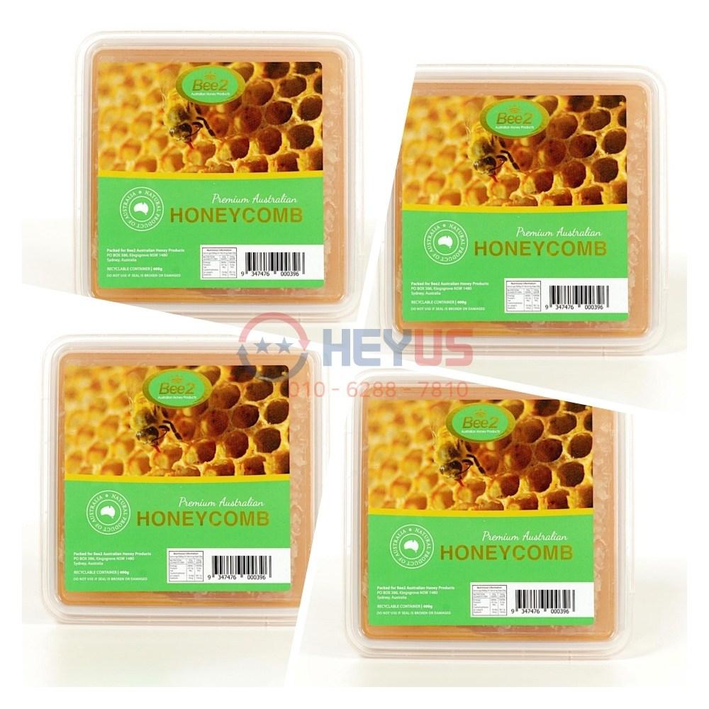 Bee2 Honey Comb 비투 벌집 꿀 허니콤 400g 4팩