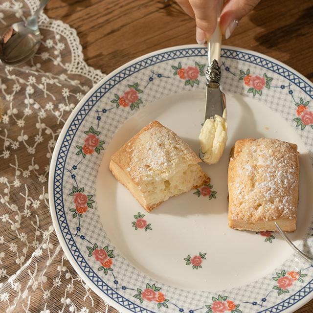 빈티지 로즈라인 디저트 접시