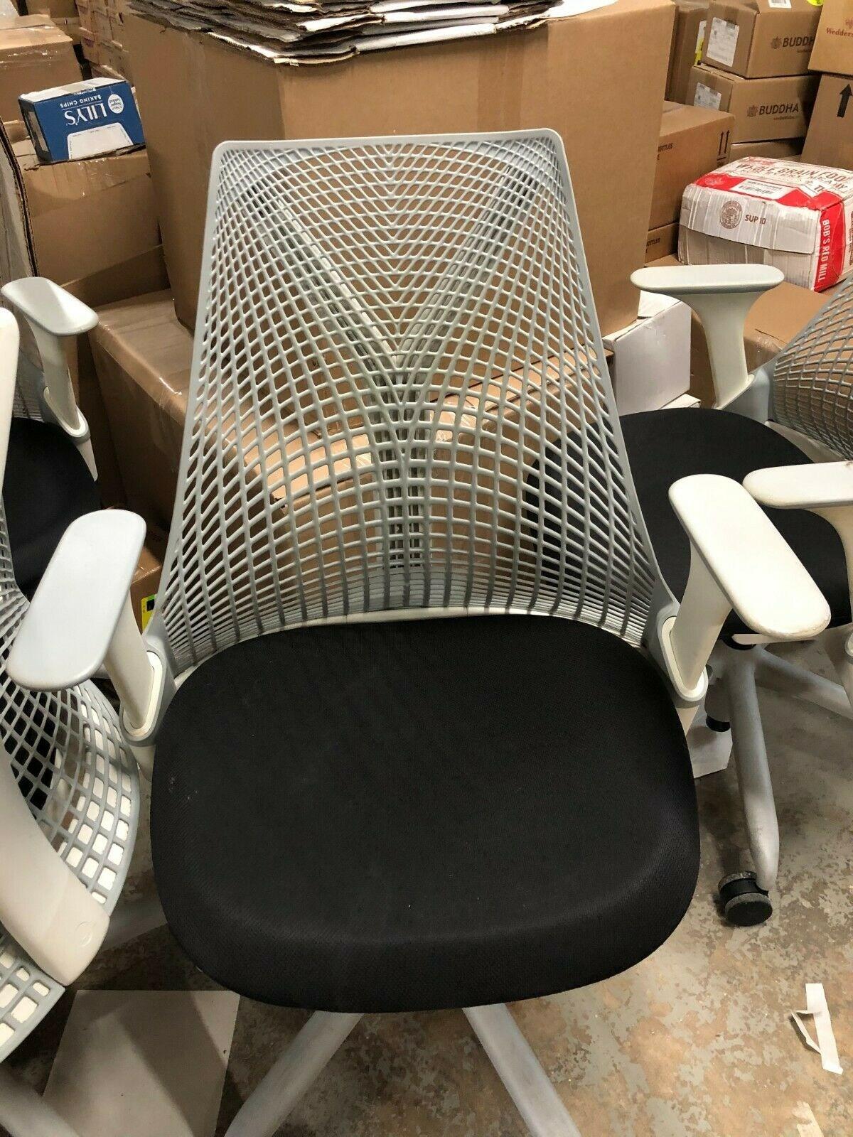 Herman Miller Sayl Office Chair - Authentic, Studio White