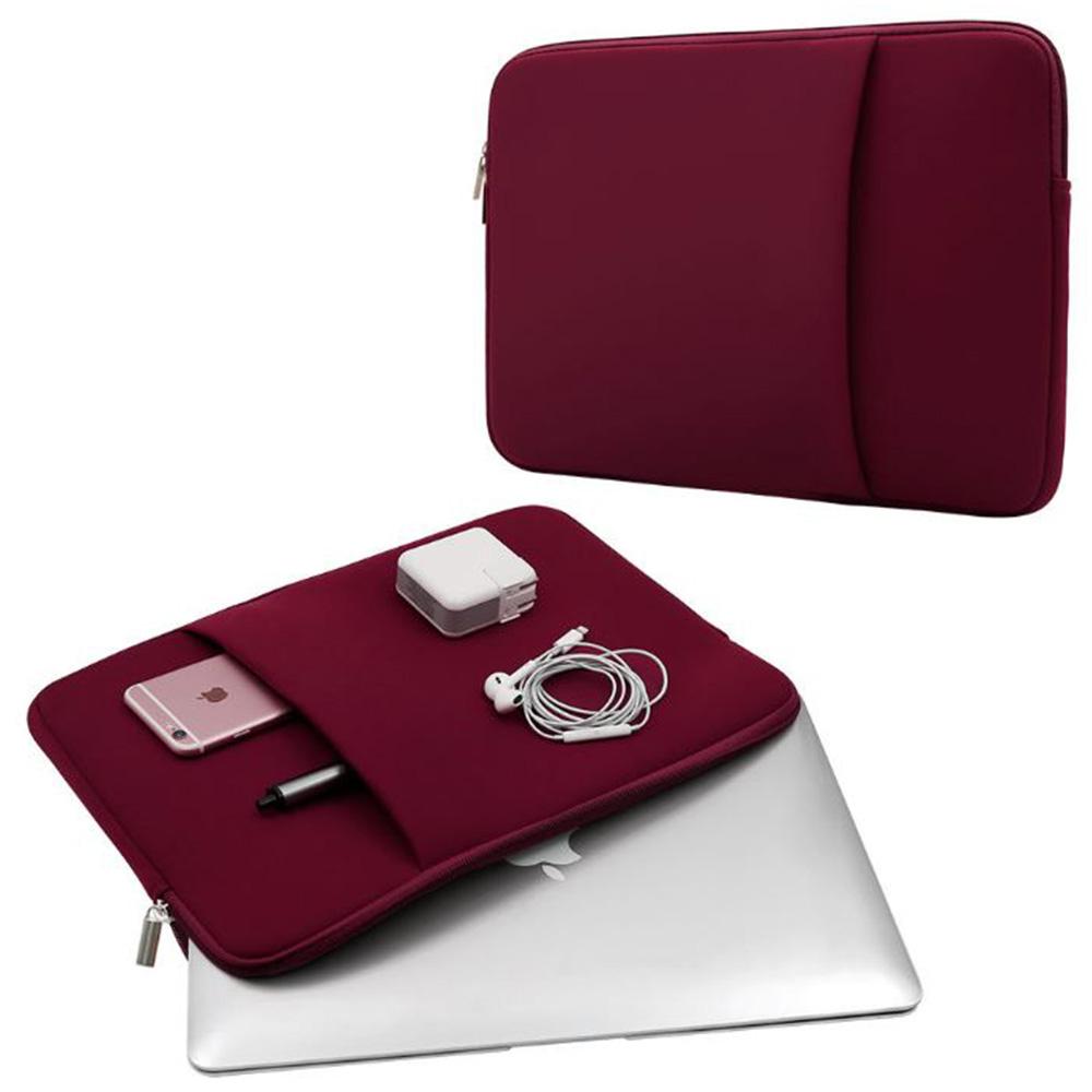 삼성 갤럭시북 플렉스 13 15인치 다용도 수납 파우치 가방, 와인