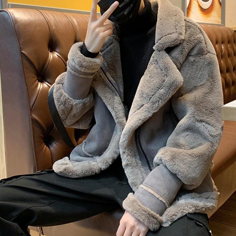 kirahosi 남자 무스탕 자켓 양털코트 캐주얼 무스탕 292호+덧신증정 AU3fr841