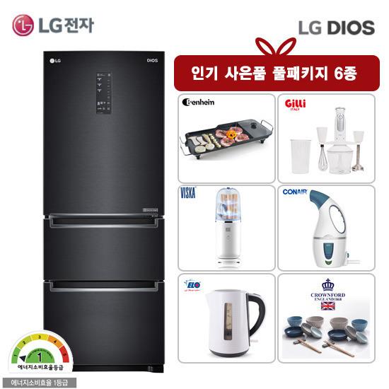 LG DIOS 김치톡톡 김치냉장고 K339MC15E(327리터)+주방6종사은품, 단품