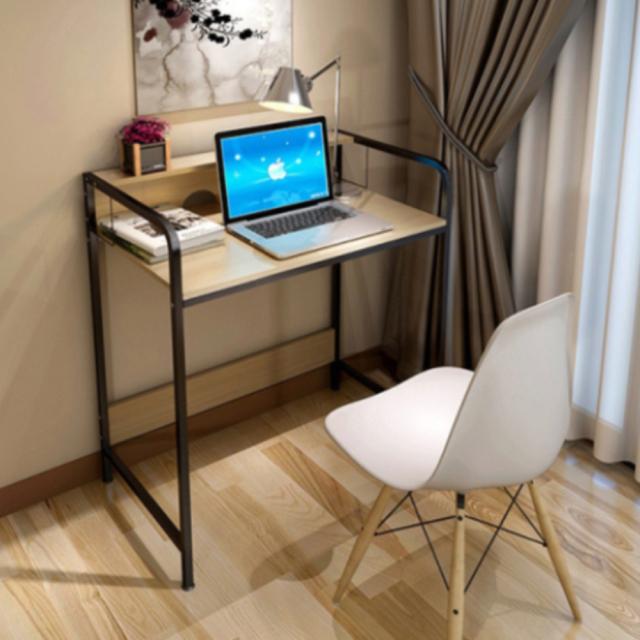 스탠딩 선반형 높이고정 학원 학생 공부방 거실 원룸 좌식 컴퓨터 책상 테이블, 선반형-쿠키색