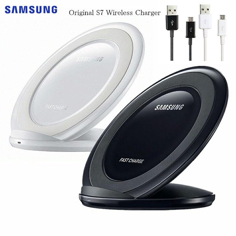 삼성 전자 갤럭시 S10 S9 S8 플러스 S7 에지 노트 10 +/아이폰 8 플러스 X EP-NG930 대한 오리지널 삼성 무선 충전기 제나라 패드 빠른 요금, White|No packling (POP 5707239187)