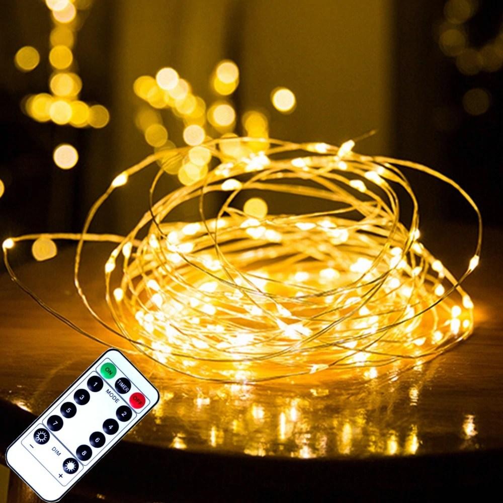 지아이비 LED USB 리모컨 와이어 전구 크리스마스 파티전구 캠핑전구 모음, 와이어100구 USB형