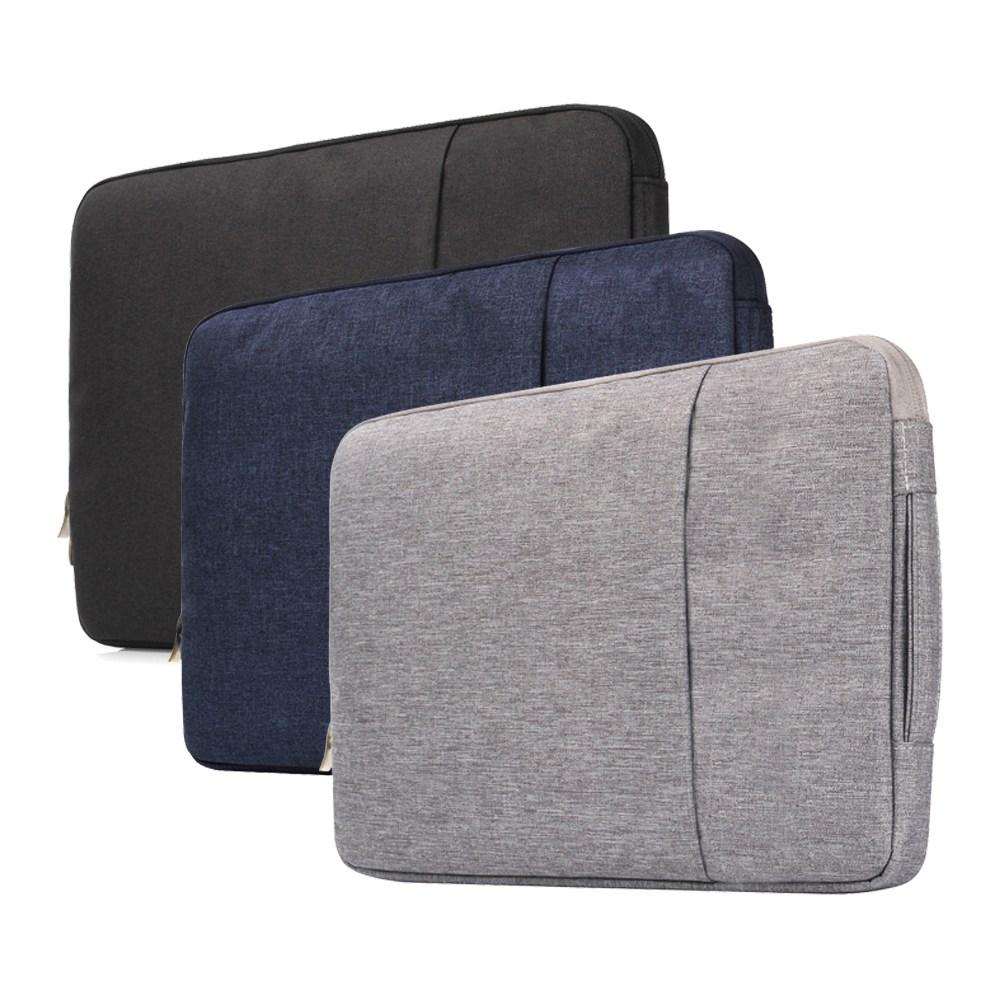 갤럭시탭 S6 S7 플러스 라이트 아이패드 에어4 맥북 에어 프로 M1 갤럭시북 플렉스2 이온2 10.9 13 15 인치 극세사 수납 파우치 케이스, 블랙