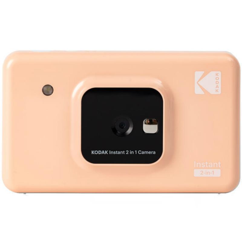 코닥 폴라로이드 즉석 필름 카메라 미니샷 레트로 2 셀프 사진기 인화기 C210R, 패키지 A., 분홍-9-6001751644