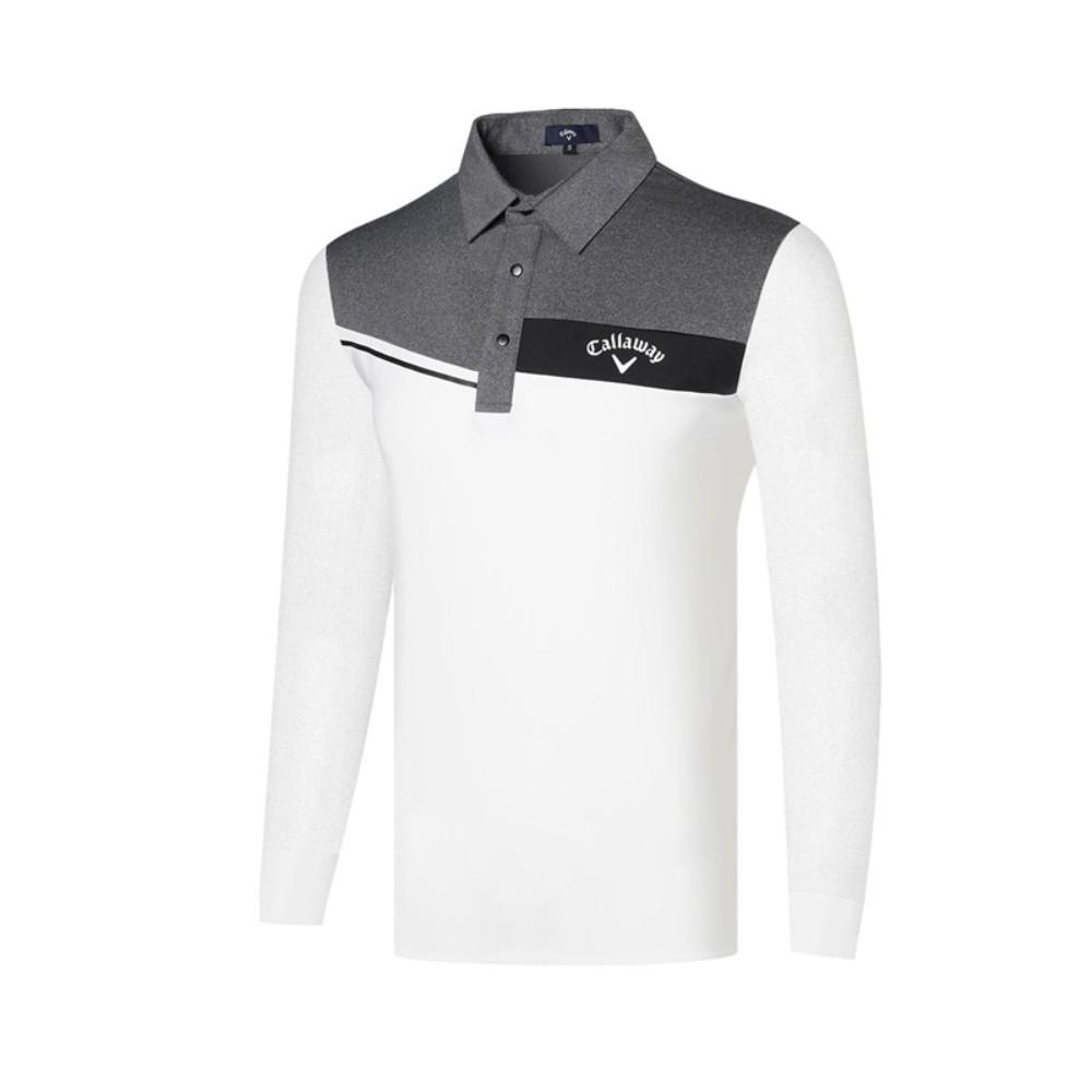 가을 겨울 캘러웨이 남성 골프웨어 트레이닝 상의 폴로 긴팔 골프 티셔츠