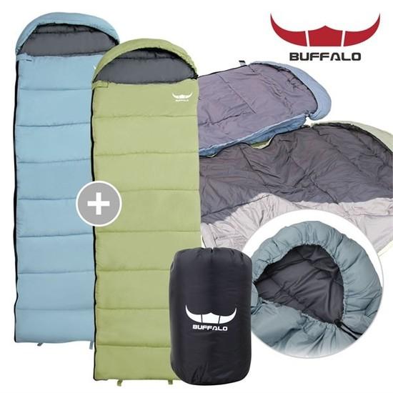 [하프클럽/BUFFALO]포그니 침낭 1+1 캠핑 용품 컴팩트 경량침낭, 상세설명 참조, 필수선택/포그니침낭2EA_라임