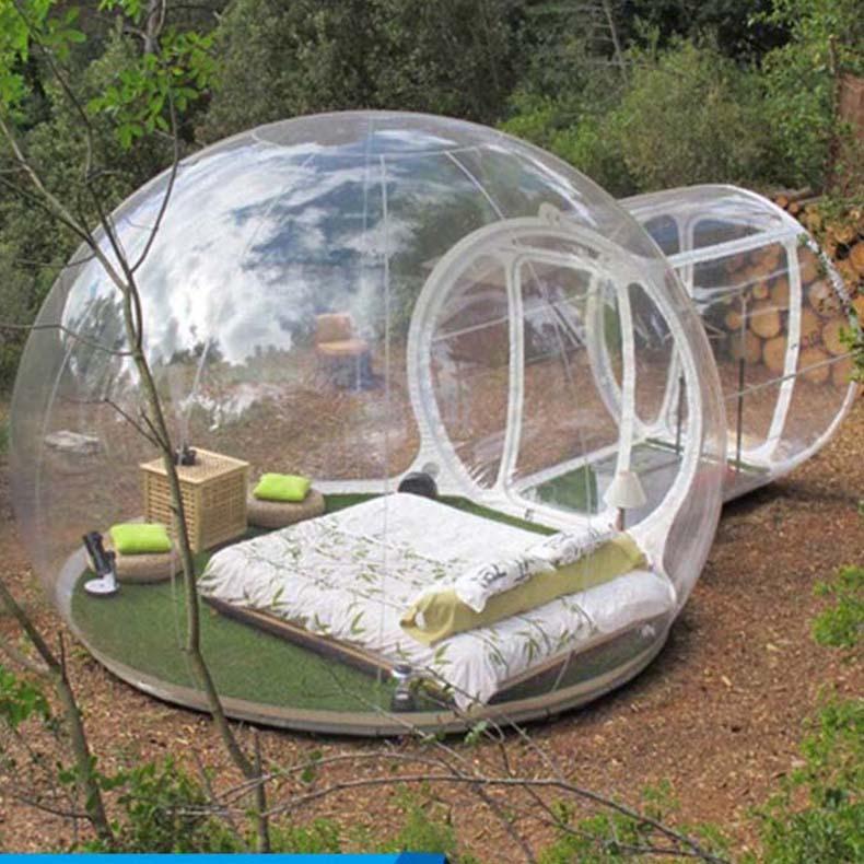 감성 캠핑 텐트 풍선 투명 거품 집 별이 빛나, 단품
