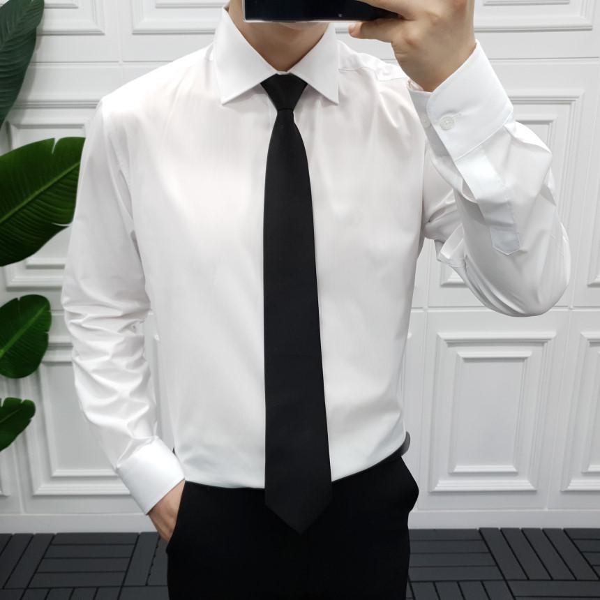 프롬엘 구김방지 스판 와이드카라 남자 정장 와이셔츠(3COLOR)