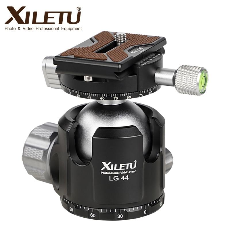 XILETU LG44 삼각대 볼 헤드 파노라마 비디오 스탠드 헤드 낮은 무게 중심 알루미늄 삼각대 볼 헤드 최대 하중 무게 20KG