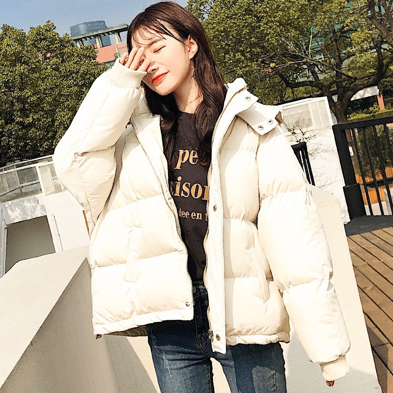 웰론패딩 2019겨울 다운패딩 패딩 여자외투 패션학생 짧은타입 숏패딩 루즈핏 다운점퍼