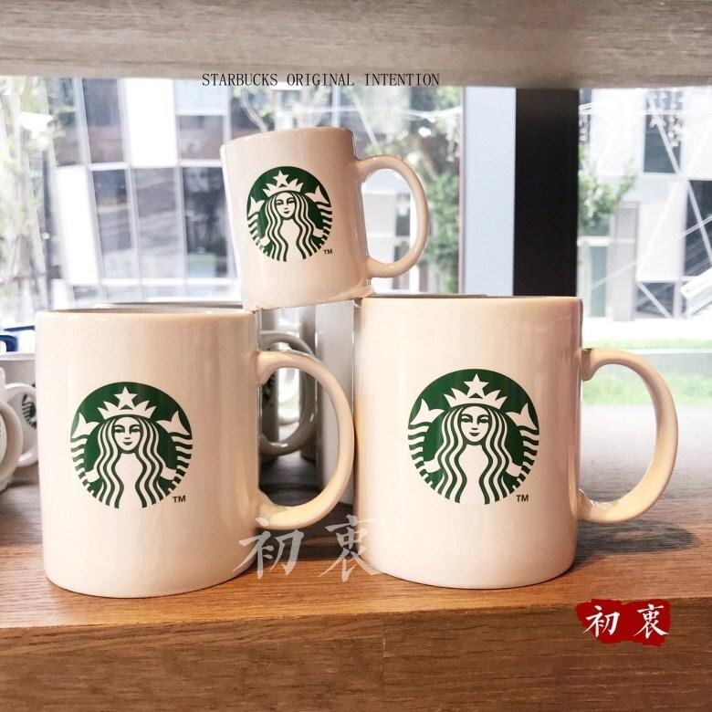 starbucks 스타벅스 컵 로고 클래식 화이트 머그컵 도자기 머그잔, 화이트 - 473ml