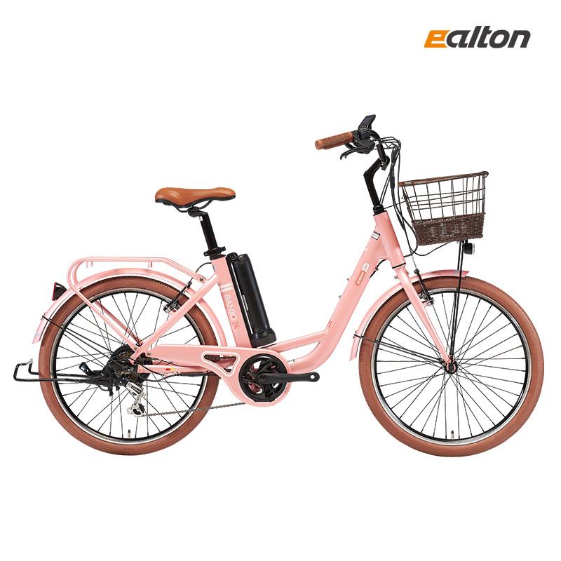 2021년 알톤 벤조24 전기자전거 6.6Ah 350W 24인치 부인용 무료조립, PAS/스로틀(겸용)_살몬핑크 (POP 5016552466)
