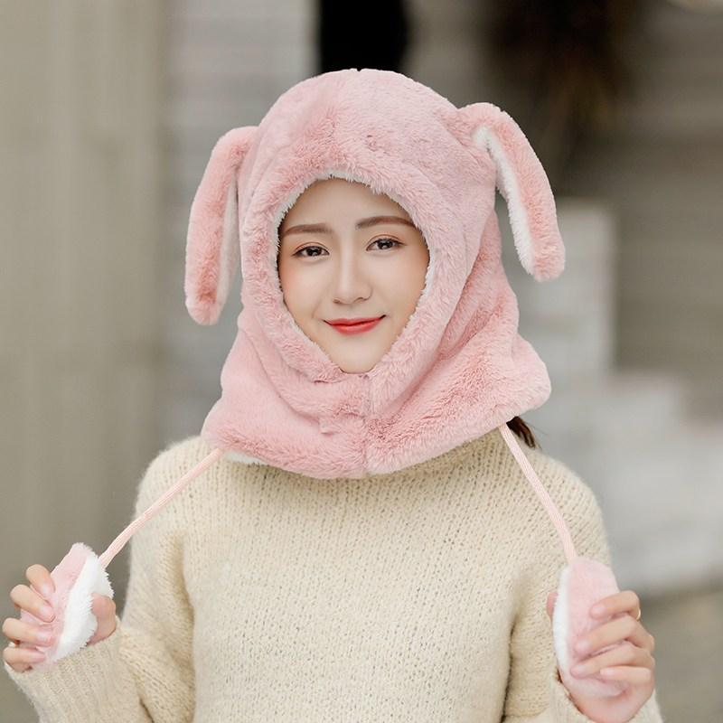 군밤 귀달이 모자 트래퍼햇 모자 여레트 캡 겨울 기모노에 풍성한 귀마개