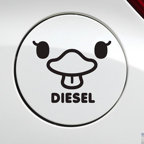 노멜마켓 메롱오리 디젤 자동차 주유구스티커-블랙 차량용 스티커