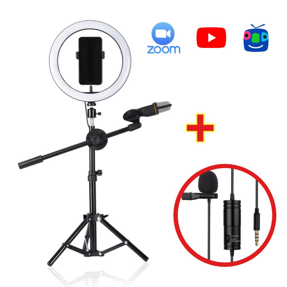 유튜브팩토리 유튜브 장비 유튜버 온라인수업 브이로그 개인 방송용 마이크 방송 촬영 조명 링라이트 크리에이터킷, 1개, F532 링라이트+마이크 세트