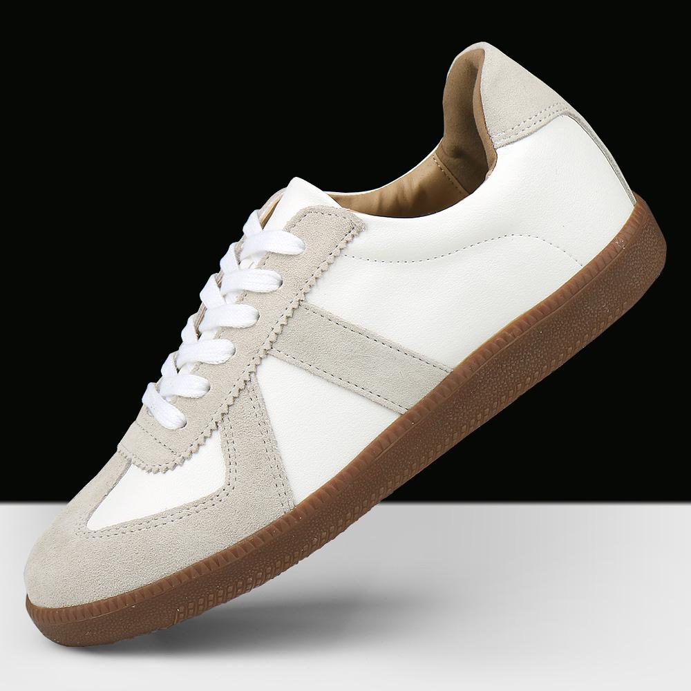 보이센스 스프리트 가죽 콤비 독일군 남성 스니커즈 캐주얼 운동화 남자 신발