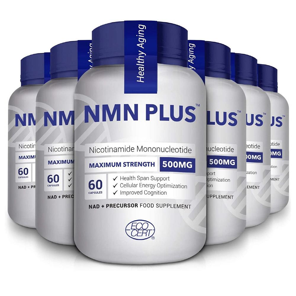 에코서트 NMN 니코틴아미드 500mg 60캡슐 6통 ECOCERT NMN PLUS Maximum Nicotinamide Mononucleotide