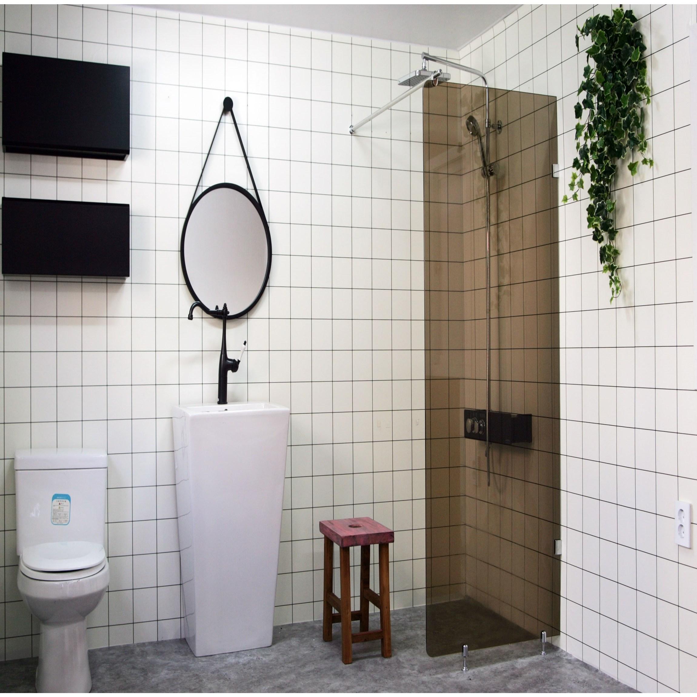 A6마트 브론즈파티션 욕실파티션 갈색파티션 욕실인테리어 물막이, 450