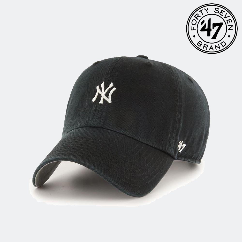 47브랜드 뉴욕양키스 스몰로고 블랙 클린업 볼캡 MLB모자