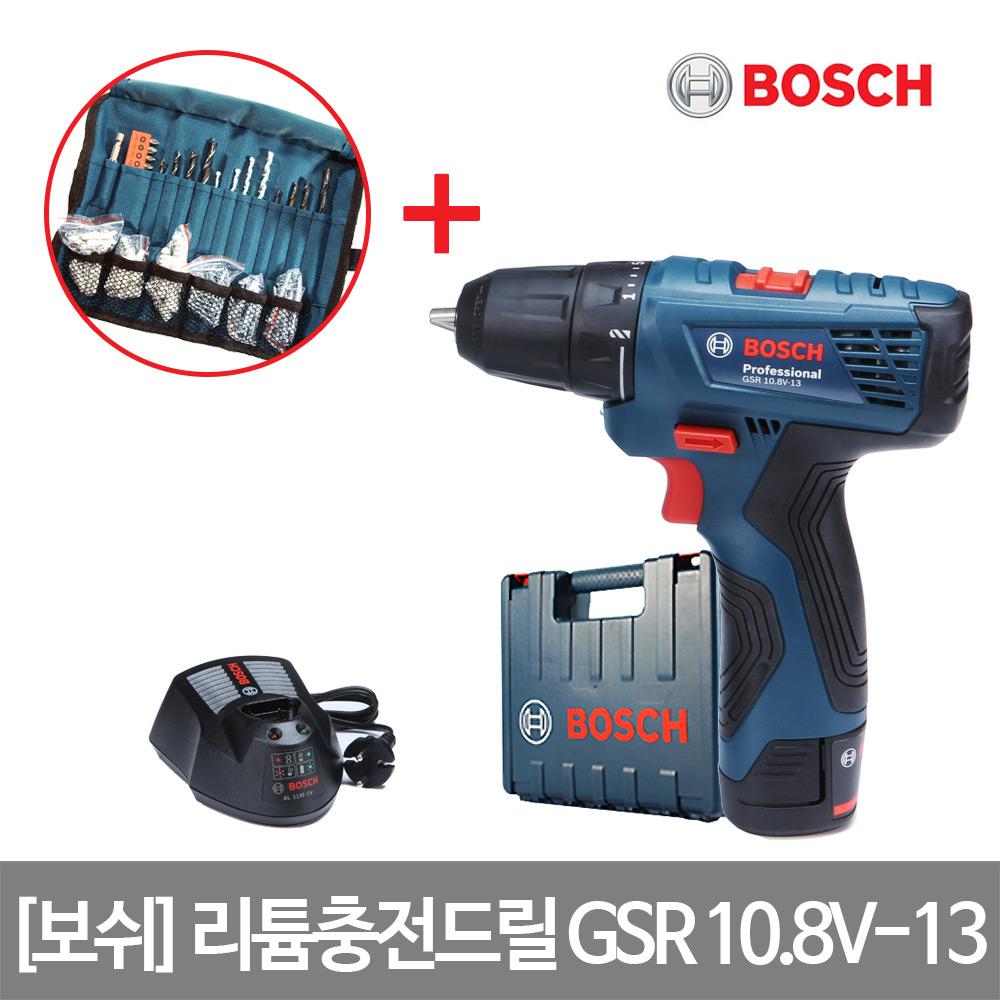 보쉬 10.8V 충전전동드릴 GSR 10.8V-13(1B)100P포함, 단품