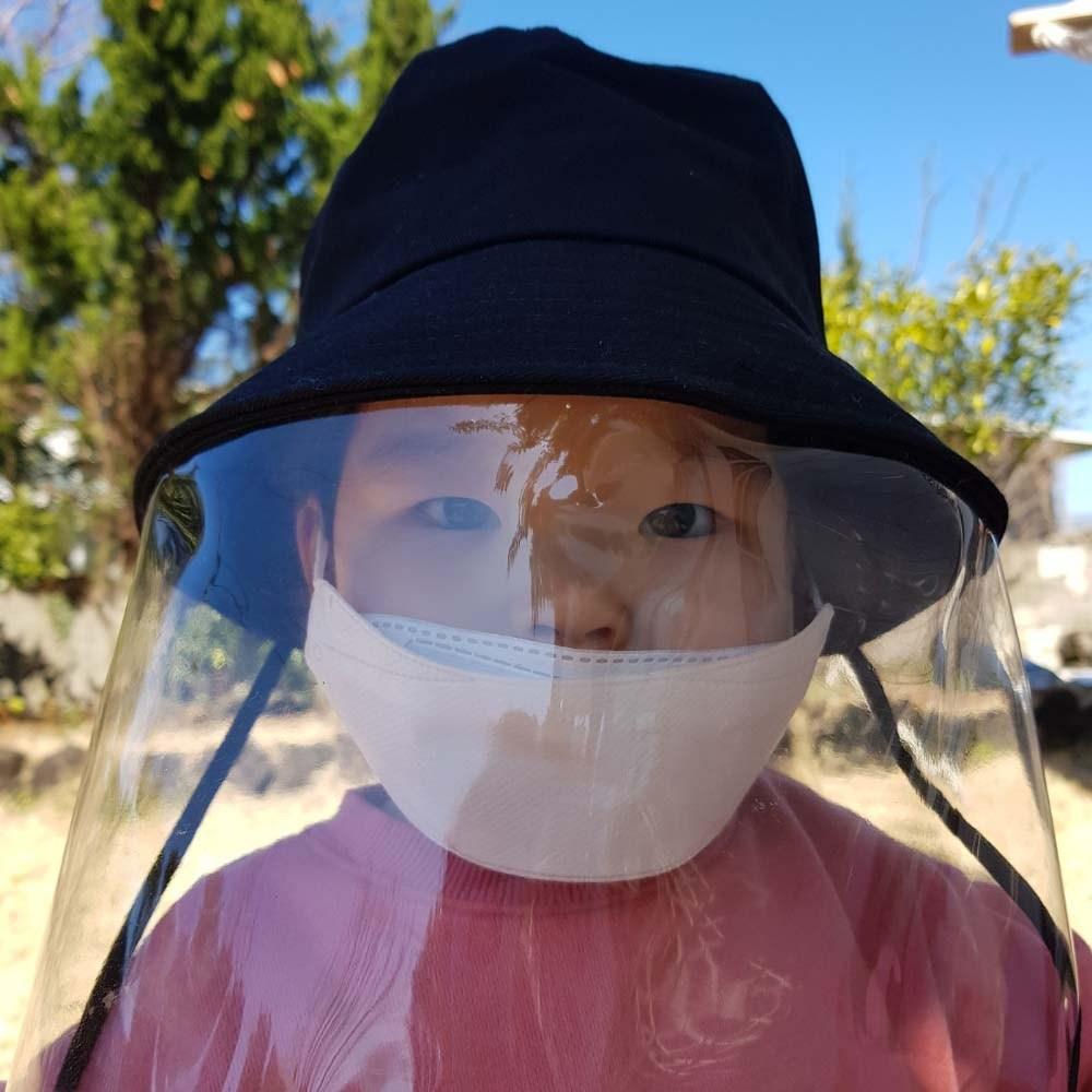토리동동 (당일배송) 안면보호 투명필름 방역모자 비말감염방지 ( 아동 성인 )