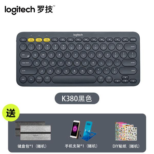 로지텍 Logitech k380 화이트 핑크 무선 블루투스 키보드, K380 블랙, 공식 표준