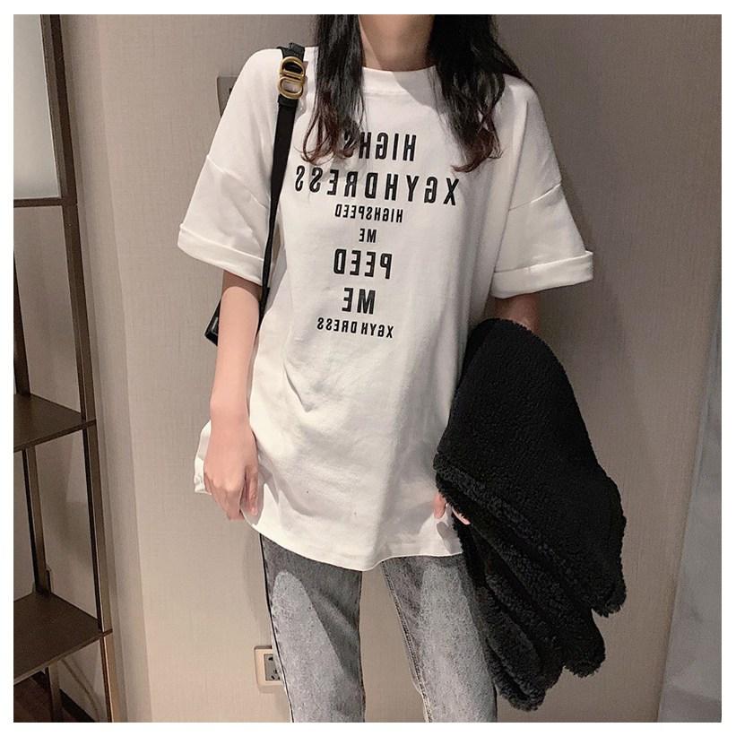 주디엘리 여성 캐쥬얼 하이스 여름 반팔 루즈핏 티셔츠 1+1
